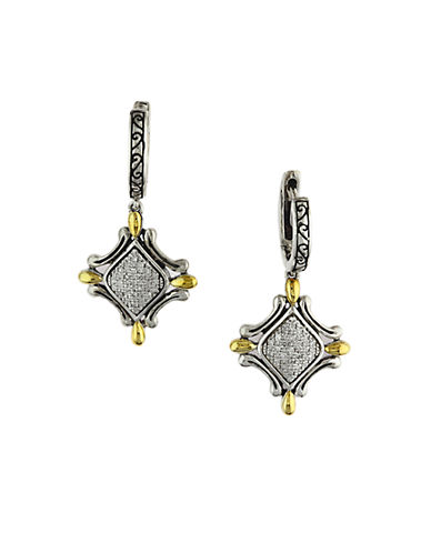 EFFY Balissima Sterling Silver and 18 Kt. Yellow Gold Diamond Drop Earrings