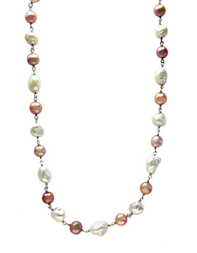 EFFYSterling Silver Multi-Colored 8-10 MM Pearl Necklace