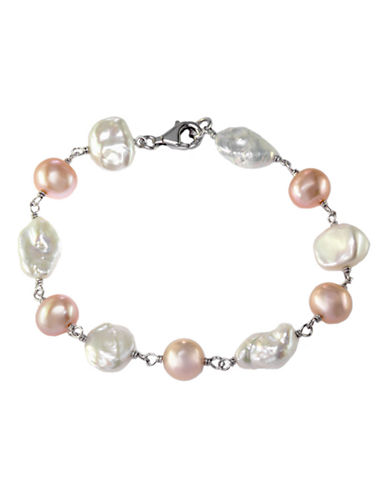 EFFY Sterling Silver Multi-Colored Pearl Bracelet