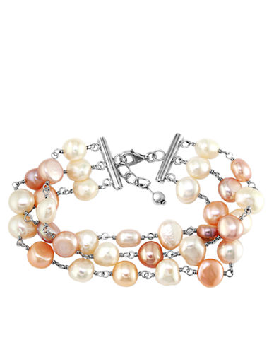 EFFY Balissima Multicolored Pearl Bracelet in Sterling Silver