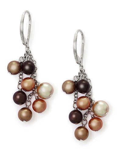EFFYBalissima Multicolored Pearl Drop Earrings in Sterling Silver
