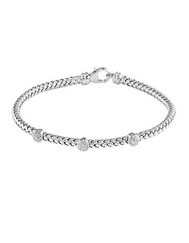 EFFYBalissima Sterling Silver Circle Diamond Tennis Bracelet