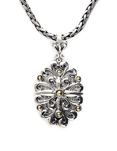 Effy Balissima Sterling Silver Necklace with 18Kt. Yellow Gold Flower Pendant
