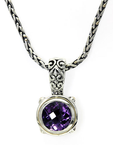 EFFYBalissima Sterling Silver and 18Kt. Yellow Gold Amethyst Pendant