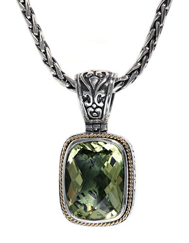 EFFYBalissima Sterling Silver with 18Kt. Yellow Gold and Lemon Quartz Pendant