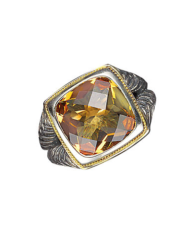EFFY Balissima Sterling Silver and 18 Kt. Yellow Gold Citrine Ring