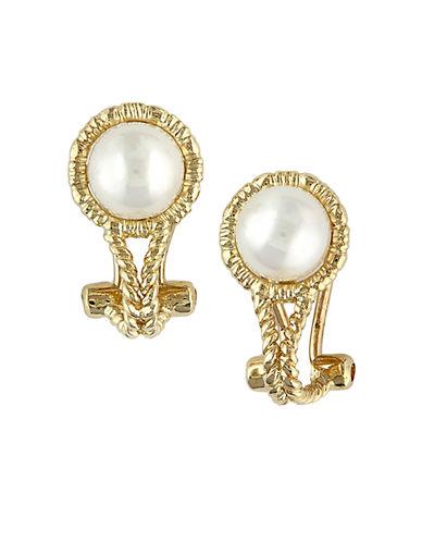 EFFY14 Kt. Yellow Gold Freshwater Pearl Earrings