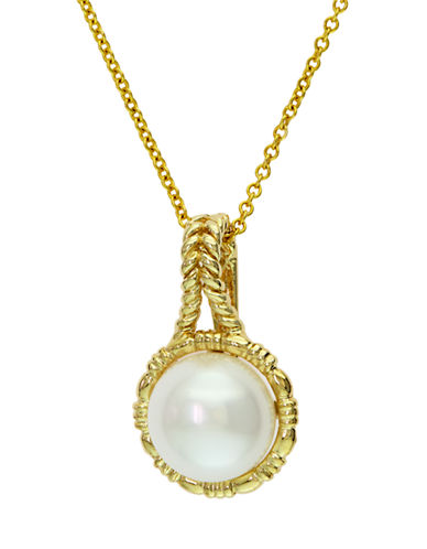 EFFY 14 Kt. Yellow Gold Freshwater Pearl Pendant Necklace