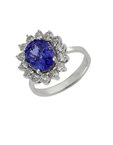 EFFY14Kt. White Gold Tanzanite & Diamond Ring