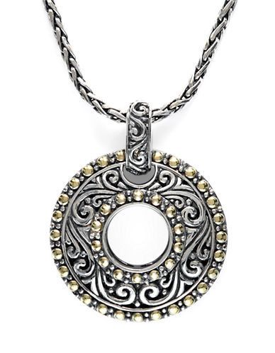 EFFY Balissima Sterling Silver Necklace with 18Kt. Yellow Gold Circle Pendant