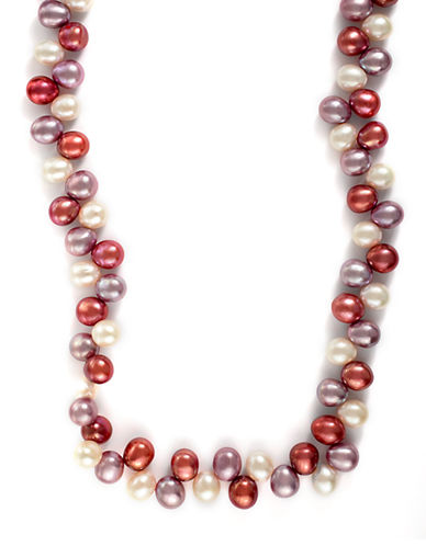 EFFY14Kt. Yellow Gold Multi Colored Pink Pearl Strand Necklace