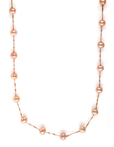 EFFY 14Kt. Rose Gold Pink Pearl Tin Cup Necklace