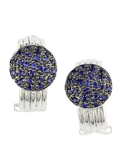 EFFY Balissima Sterling Silver Pave Sapphire Earrings