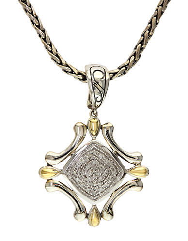 EFFY Balissima Sterling Silver Necklace with 18Kt. Yellow Gold and Diamond Pendant