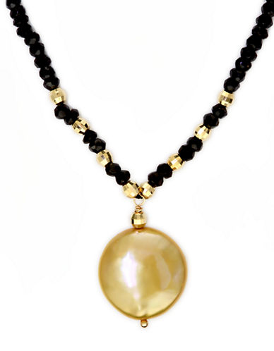 EFFY 14Kt. Yellow Gold Freshwater Pearl Coin Necklace