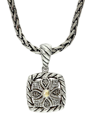 EFFY Balissima Sterling Silver and 18 Kt. Yellow Gold Diamond Pendant Necklace