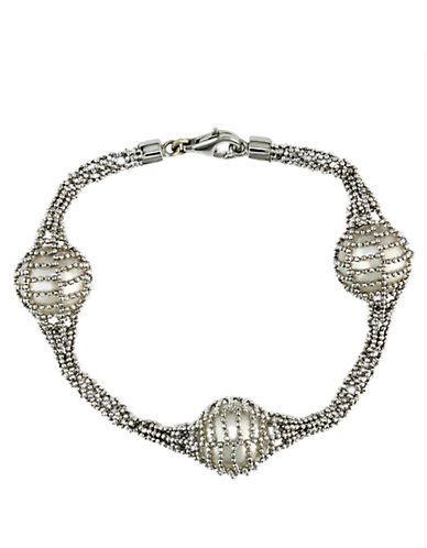EFFY Pearl Lace Sterling Silver and Freshwater Pearl Tennis Bracelet