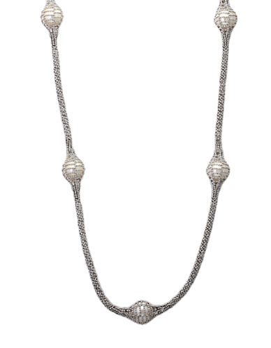 EFFY Pearl Lace Sterling Silver and Freshwater Pearl Necklace