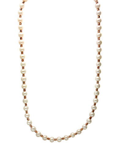 EFFY Sterling Silver Freshwater Pearl and Bead Necklace