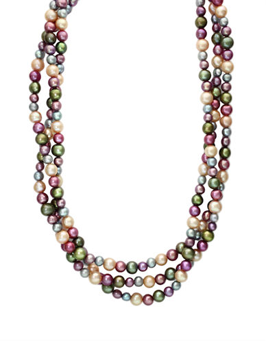 EFFYSterling Silver Multi-colored Freshwater Pearl Necklace