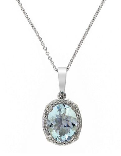 EFFY 14 Kt. White Gold and Diamond Pendant Necklace