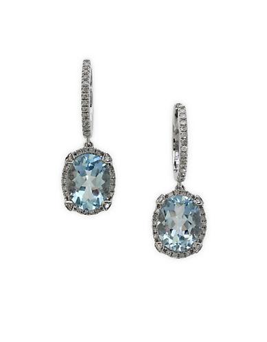 EFFY14 Kt. White Gold and Diamond Earrings