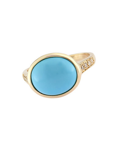EFFYTurquesa 14 Kt. Gold & Turquoise Ring with Diamond Accents