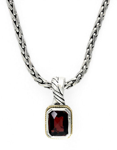 EFFYBalissima Sterling Silver with 18 Kt. Yellow Gold Garnet Pendant