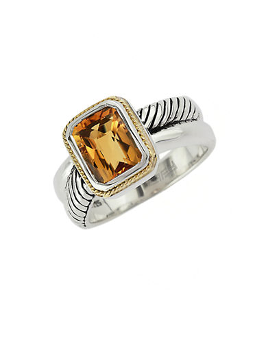 EFFYBalissima 18Kt. Yellow Gold and Sterling Silver Citrine Ring