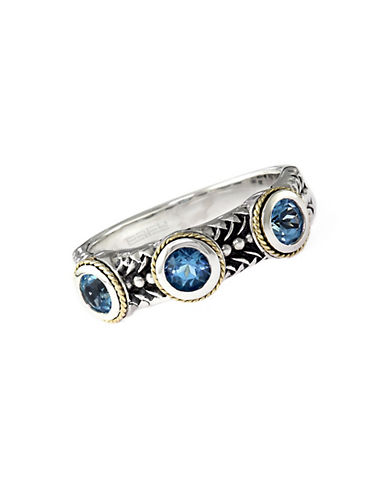 EFFYSterling Silver 18Kt. Yellow Gold and Blue Topaz Ring