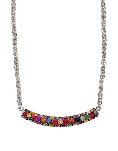 Effy Red Box Sterling Silver Multi-Colored Sapphire Necklace