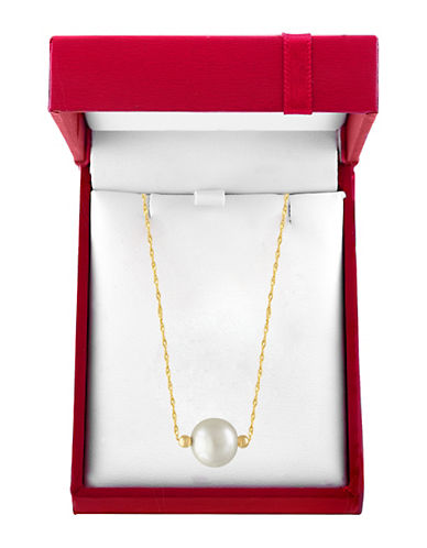 EFFYRed Box 10MM White Pearl and 14K Yellow Gold Necklace