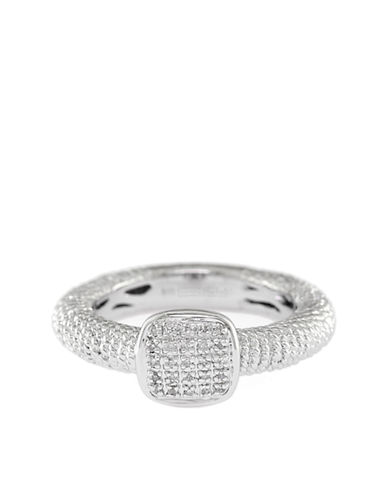 EFFYBalissima Square Sterling Silver and Pave Diamond Ring