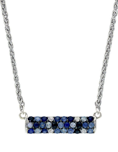 EFFYBalissima Sterling Silver Multi-Sapphire Bar Necklace