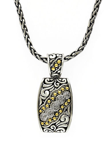 EFFYBalissima 18Kt. Yellow Gold and Sterling Silver Diamond Pendant Necklace