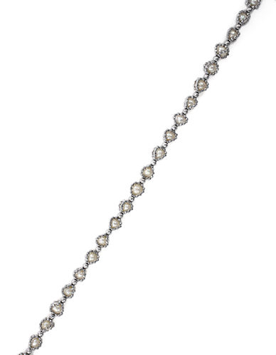 EFFY Sterling Silver and Freshwater Pearl Tennis Bracelet