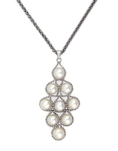 EFFYPearl Lace Sterling Silver Freshwater Pearl Pendant