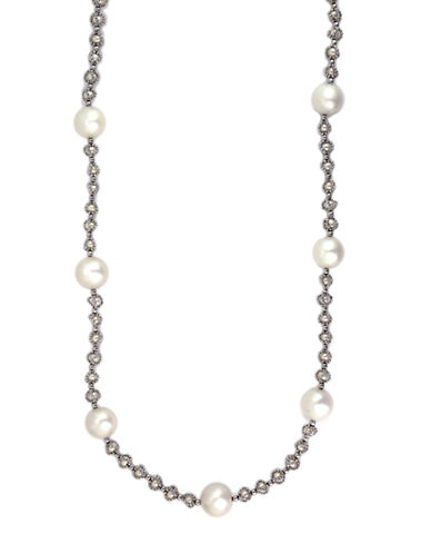 Effy Pearl Lace Sterling Silver and Pearl Necklace