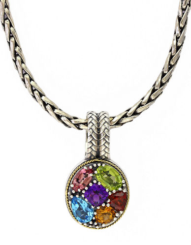 EFFYBalissima 18Kt Yellow Gold and Sterling Silver Multi Pendant Necklace