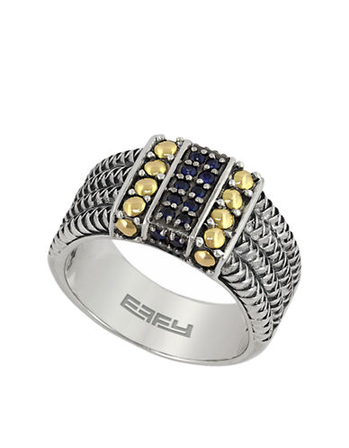 EFFYBalissima 18 Kt. Yellow Gold and Sterling Silver Sapphire Ring
