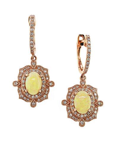 EFFY14K Rose Gold Opal and Diamond Drop Earrings