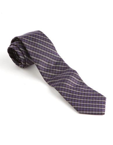 BLACK BROWN 1826Slim Fit Diagonal Striped Silk Tie