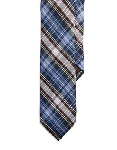 BLACK BROWN 1826Plaid Silk Tie