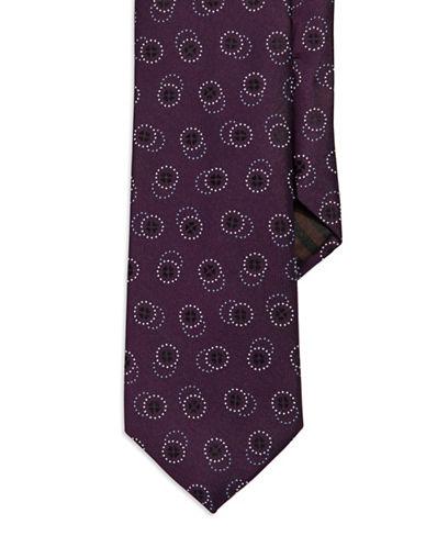 BLACK BROWN 1826Geo Circle Silk Tie