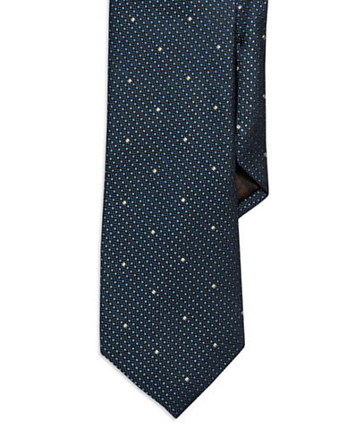 BLACK BROWN 1826Dotted Silk Tie