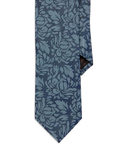BLACK BROWN 1826Floral Silk Tie