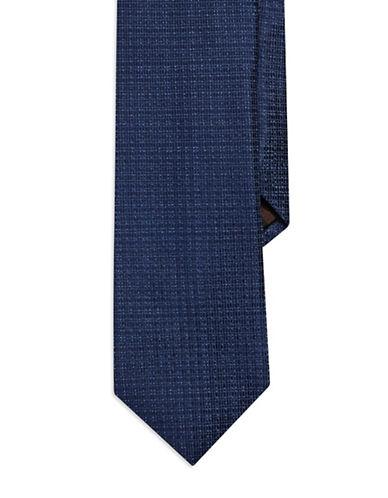 BLACK BROWN 1826Grid Silk Tie
