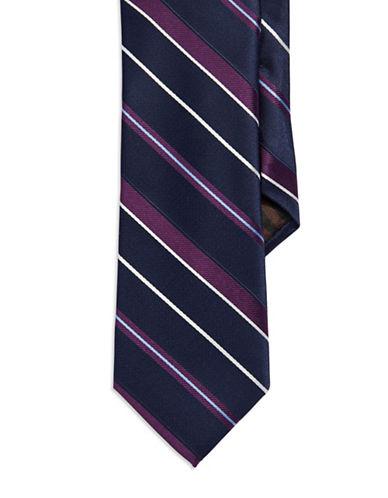 BLACK BROWN 1826Multi Striped Silk Tie