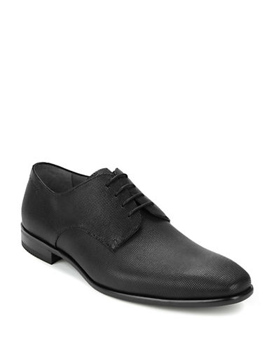 Hugo Boss Hureb Textured Leather Loafers