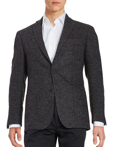 michael kors male textured twobutton woolblend jacket